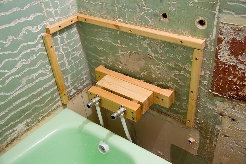 Как сделать короб в ванне своими руками 705